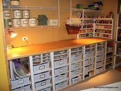 Art craft room organizing