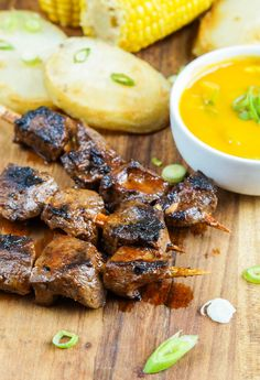 Anticuchos (Peruvian Beef Heart Skewers) (3 of 3)