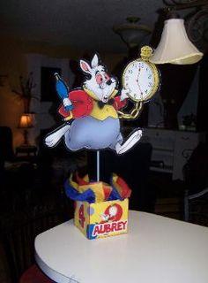 Alice in Wonderland Mad Hatter Tea Party Birthday Party Centerpiece. www.playpatterns.net