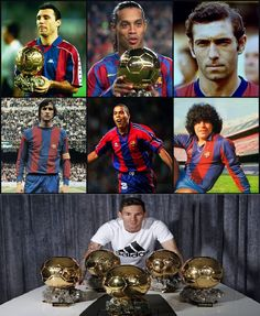 Stoichkov 117 goles/255 partidos Ronaldinho 94/207 Quini 74/141 Cuyff 60/180 Ronaldo 47/49 Maradona 38/58 TOTAL: 430/890 MESSI 432/507 Fc Barcelona, Ronaldo, Best Football Players, Best Club, Lionel Messi, Baseball Cards, History, Athletes, Fictional Characters