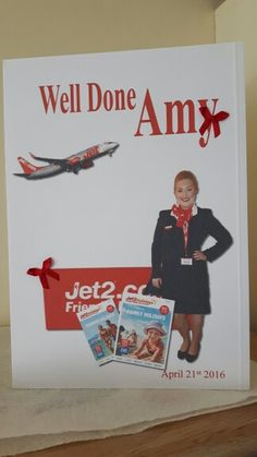 My beautiful daughter has just qualified as cabin crew.  So proud of her.