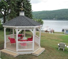 Beautiful Gazebo overlooking the lake... it doesn't get any better than this.  https://www.facebook.com/woodtexoutdoorliving
