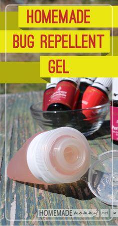 Homemade Bug Repellent Gel | www.homemademommy.net