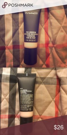 NW15 Pro Longwear Nourishing Waterproof Foundation Pro Longwear Nourishing Waterproof Foundation NW15. Opened to test color. Purchase along with any makeup Bag for an additional $4.00.                                                                         Offers Welcome!  Bundles Welcome! MAC Cosmetics Makeup Foundation