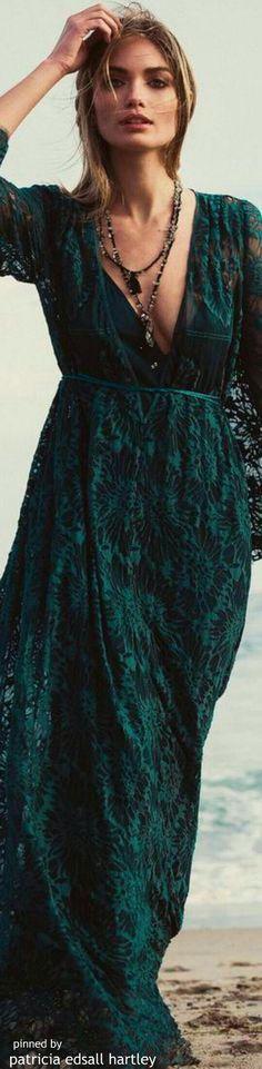 Nice green boho dress