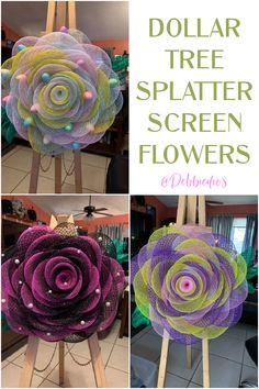 Dollar Tree Spring Splatter Screen Crafts - Debbiedoos