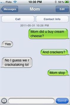 "The ""Mahm…just no"" texts: 
