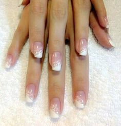 Lace French tip nails ❤️