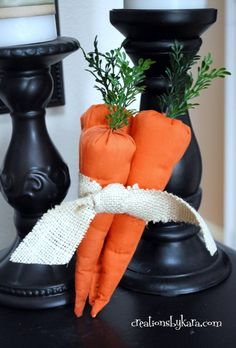 Easter Decor- Fabric Carrot Tutorial
