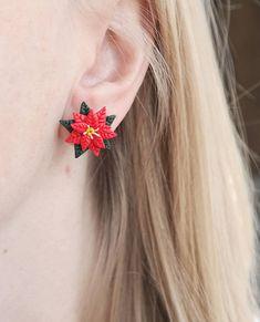 Christmas Star new handmade lightweight earrings