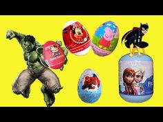 Surprise Eggs Opening by Superheroes Dora The Explorer My Little Pony Hello Kitty Disney Egg Toys  - YouTube