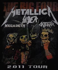 Metallica, Megadeth, Slayer, and Anthrax