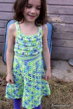Ravelry: Child's Puff Stitch Halter Dress pattern by Jessie Rayot