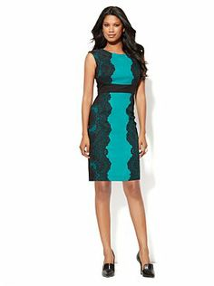 I saw this dress at New York and Company and I think it would be super cute on you.  :)  And it's not leopard print. Lol!