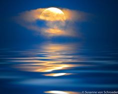Blue Moon Nature Photography Moon Rise by SoulCenteredPhotoart