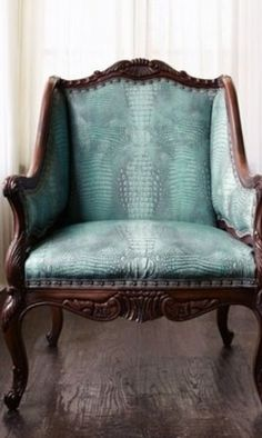 Upholstery Detail - Snakeskin /// Icon-baby, the Blog