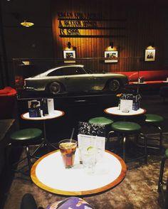 Pre-show drinks & nibbles. Aston Martin views  @everymancinema by unconventionalfoodie