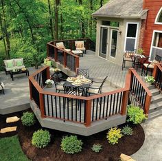Love the color for the exterior of the house and the deck !