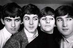 The Beatles with makeup