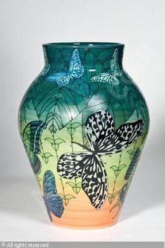 Butterfly vase.