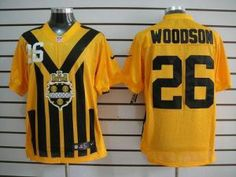 Nike NFL Elite Steelers #26 Rod Woodson Gold 1933s Throwback Men's Stitched Jersey