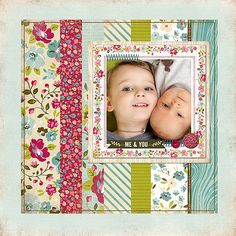 Gorgeous layout by Adrienne Looman using Plum Seedby Webster's Pages.  I love these colors and patterns!