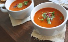 We love tomato soup. When I found the recipe for Nordstrom's famous Tomato Basil Soup it became an instant favorite in our house. Easy and delicious.