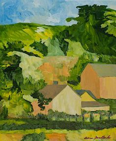 I can feel the sunlight in this painting, almost smell the air.  Sonoma Home by Allan P Friedlander