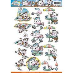 3D A4 Knipvel Yvonne Creations - Summer Holiday - Lazy Days CD10722