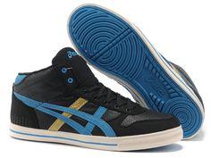2013 Asics High Skateboard Shoes Black Blue