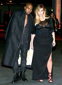 Kanye West and Kim Kardashian attend the Givenchy show as part of the Paris Fashion Week Womenswear in Paris, France.