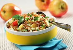Wheat Berry Apple Salad - could probably substitute barley for the wheat berries Diabetic Recipes, Cooking Recipes, Healthy Recipes, Diabetic Foods, What's Cooking, Delicious Recipes, Importance Of Healthy Eating, Wheat Berry Salad, Healthy Candy
