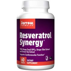 Buy Jarrow Formulas, Resveratrol Synergy, 60 Tablets - Dietary Supplement for sale in Online supplements shop megavitamins in Gold Coast, Brisbane & across Australia.