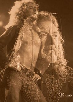 Robert Plant by Vermis Karavitis.