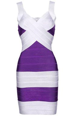 To find out about the Purple and Silver Bandage Dress at SHEIN, part of our latest Dresses ready to shop online today! Purple Bodycon Dresses, White Bandage Dress, Sexy White Dress, Purple Dress, Silver Dress, Cheap Dresses, Sexy Dresses, Vintage Dresses, Beautiful Dresses