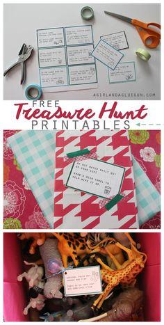 free treasure hunt printables