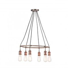 Buy Endon Lighting Hal Aged Pewter & Aged Copper Indoor Pendant Light 76337 online from The Lighting Company. Free UK delivery on orders over Ceiling Pendant, Pendant Lighting, Ceiling Lights, Light Pendant, Game Room Lighting, Dining Lighting, Aged Copper, Cream Walls, Lighting Companies