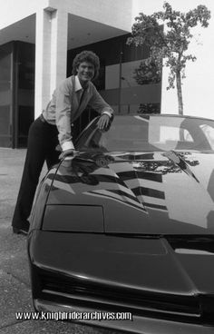 David Hasselhoff and the Knight 2000 in a Knight Rider Season 2 portrait, 1983 #TBT