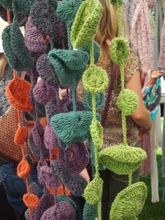 Cool, funky crocheted scarves. Even made one myself!
