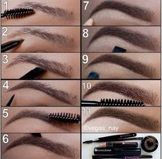 How To Fill In Your Eyebrows! They'll Look Amazing --- gonna have to practice this one