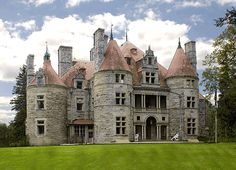 "The Searles Castle is a romantically imagined castle-style house in Great Barrington, Massachusetts. Built in the 1880s, and in the French chateau-style, it has seven stories and includes a ""dungeon"" basement. There are 40 rooms containing 54,246 square feet (5,039.6 m2) of floor space, as well as 36 fireplaces. 30th largest house in the USA."
