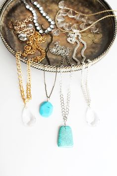 DIY Gemstone Necklace - IHOD for Emma Magazine