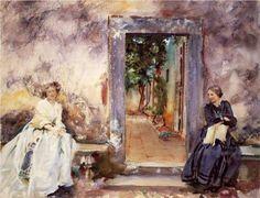 The Garden Wall - John Singer Sargent, 1910