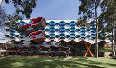 Lyons, Australia, university, La Trobe Institute for Molecular Science, Australian Institute of Architects, architectural competition, cellular façade, precast concrete