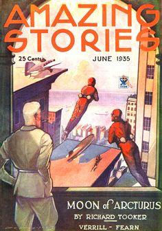 1935 Amazing - Artwork by LEO MOREY