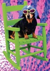 """Musical dachshund encouragement card, featuring the singing dachshund, Lucy Lou. """"You rock! Musical Cards, Black And Tan Dachshund, Weiner Dogs, Dachshunds, Musicals, Singing, Encouragement, Greeting Cards, Hilarious"""