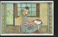Künstler-AK Rie Cramer: Mutter wiegt ihr Kind in den Schlaf 0