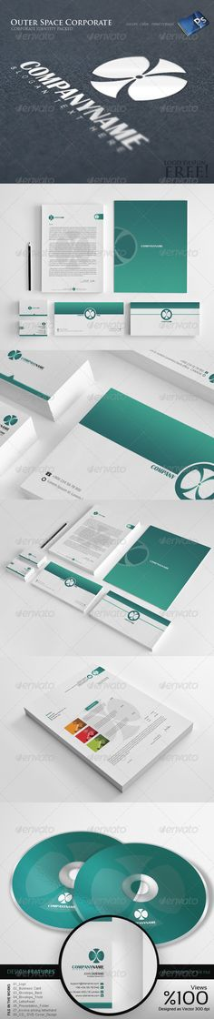 Outer Space - Corporate Identity 8  #GraphicRiver           	 DESiGN FEATURES  300 DPI / CMYK   Fully editable & totally layered  .PSD files  Print format is set  You can integrate with unlimited color combinations  Font Name : Britannic  DESiGN FiLE  01_Logo / Working size: 2400 px – 2400 px  02_Business_Card / Working size: 9.5×5.7 cm Print Dimensions  03_Envelope_Back / Working size: 26×12,5 cm Print Dimensions  04_Envelope_Front / Working size: 26×12,5 cm Print Dimensions  05_Letterheed…
