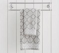 Alva Jacquard Organic Towels #potterybarn