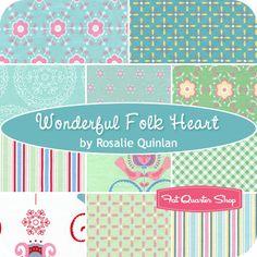 Wonderful Folk Heart Fat Quarter Bundle Rosalie Quinlan for Lecien Fabrics - Fat Quarter Shop